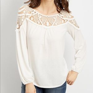 Maurices Crochet Knit Top